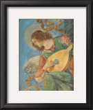 Angel with Lute Poster by  Melozzo da Forlí