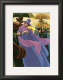 The Woman with the Yellow Violin Prints by Claude Theberge