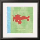 Vintage Toys Airplane Poster by Paula Scaletta