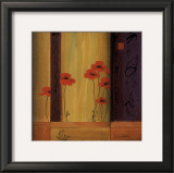 Poppy Tile I Poster by Don Li-Leger