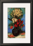 Vase with Carnations and Other Flowers, c.1886 Posters by Vincent van Gogh