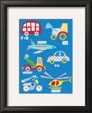 Boys Toys Print by Rachel Taylor