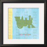 Vintage Toys Locomotive Prints by Paula Scaletta