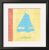 Vintage Toys Sailboat Posters by Paula Scaletta