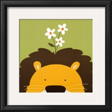 Peek-a-Boo IX, Lion Posters by Yuko Lau