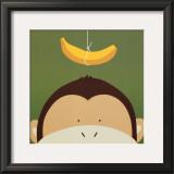 Peek-a-Boo X, Monkey Poster by Yuko Lau