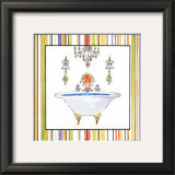 Striped Bath III Prints by Elizabeth Jardine