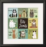 Kitty Family Prints by Jenn Ski