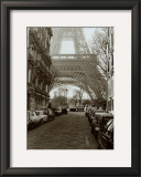Street View of La Tour Eiffel Prints by Clay Davidson