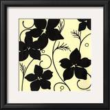 Cream with Black Flowers Print by Norman Wyatt Jr.