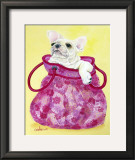 Frenchie in Pink Purse Posters by Carol Dillon