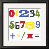 Kid's Room Numbers Prints by Megan Meagher