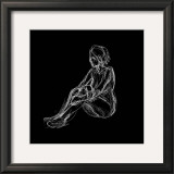 Figure Study on Black I Art by Charles Swinford