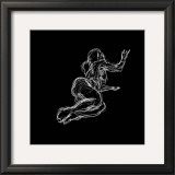 Figure Study on Black IV Poster by Charles Swinford