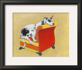Great Dane on Orange Prints by Carol Dillon