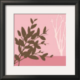 Metro Leaves in Pink I Print by Erica J. Vess