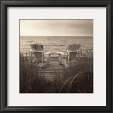 Beach Chairs Print by Christine Triebert