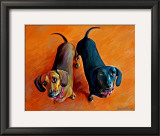 Double Dachsies Print by Robert Mcclintock