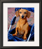 Daschund Drive Through Print by Robert Mcclintock