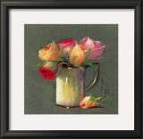 Vase with Rosebuds Posters by Rozsika Hetyei-Ascenzi