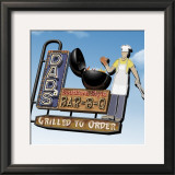 Dad's Southern Style Bar-B-Q Print by Anthony Ross