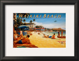Waikiki Beach Prints by Kerne Erickson