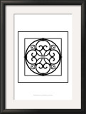 Black and White Ironwork I Poster by Chariklia Zarris