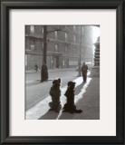 Les Chiens de la Chapelle Prints by Robert Doisneau