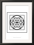 Black and White Ironwork III Print by Chariklia Zarris