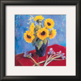 Sunflowers and Irises Posters by Edward Noott