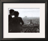 Les Amoureux de la Bastille, c.1957 Art by Willy Ronis