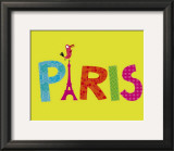 Paris Perroquet Posters by Nathalie Choux