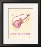 Little Pink Guitar Prints by Catherine Richards