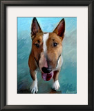 Spike Bull Terrier Art by Robert Mcclintock