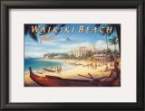 Waikiki Beach Posters by Kerne Erickson