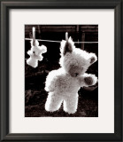 Teddy Bear Drying Art by U. Dresing