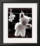 Teddy Bear Drying Art by U. Dresing