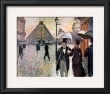 Paris, a Rainy Day, 1877 Poster by Gustave Caillebotte