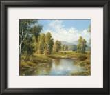 River Landscape Art by H. Buchner