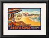 Visit Santa Cruz Posters by Kerne Erickson