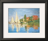 Regattas in Argenteuil Prints by Claude Monet