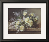 Still Life of Yellow Roses Poster by Raoul Victor Maurice Maucherat de Longpre