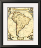 Nautical Map of South America Prints
