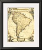 Nautical Map of South America Prints