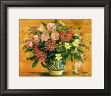 Flowers on Wood I Posters by Margaret Murton
