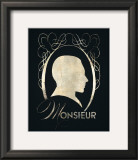 Monsieur Silhouette Print by Lisa Vincent