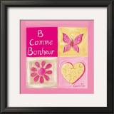 B Comme Bonheur Prints by Lynda Fays
