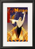Cafe Nitro Poster by Michael L. Kungl