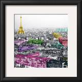 Eiffel Colours Poster by Anne Valverde