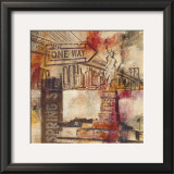 New York One Way Prints by Sara Abbott